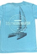 Southern Marsh Antiqua Blue Sail Away Seawash Tee