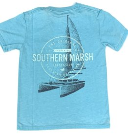 Southern Marsh Antiqua Blue Sail Away Seawash Tee