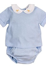 The Bailey Boys Blue Stripe With Duck Diaper Cover
