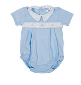 Nella Blue Diamond Smocked Bubble