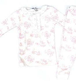 Nella Pink Toile Pajamas