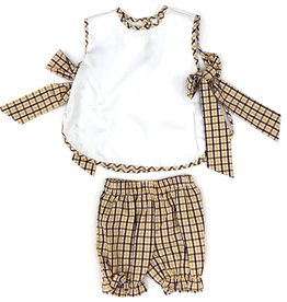 Lulu Bebe LLC LSU Plaid Bloomer Set