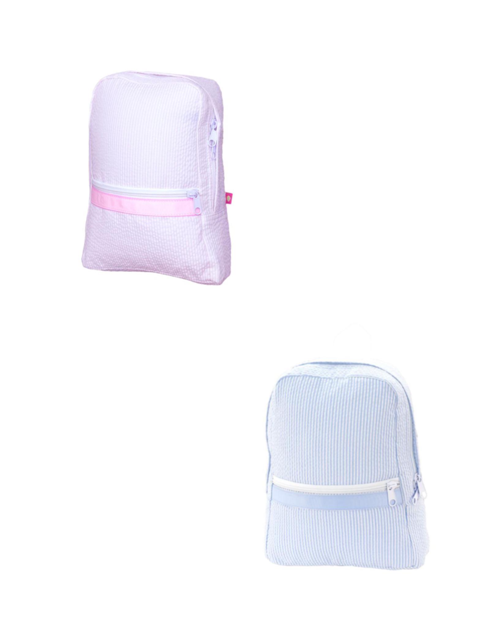 Mint Seersucker Small Backpack