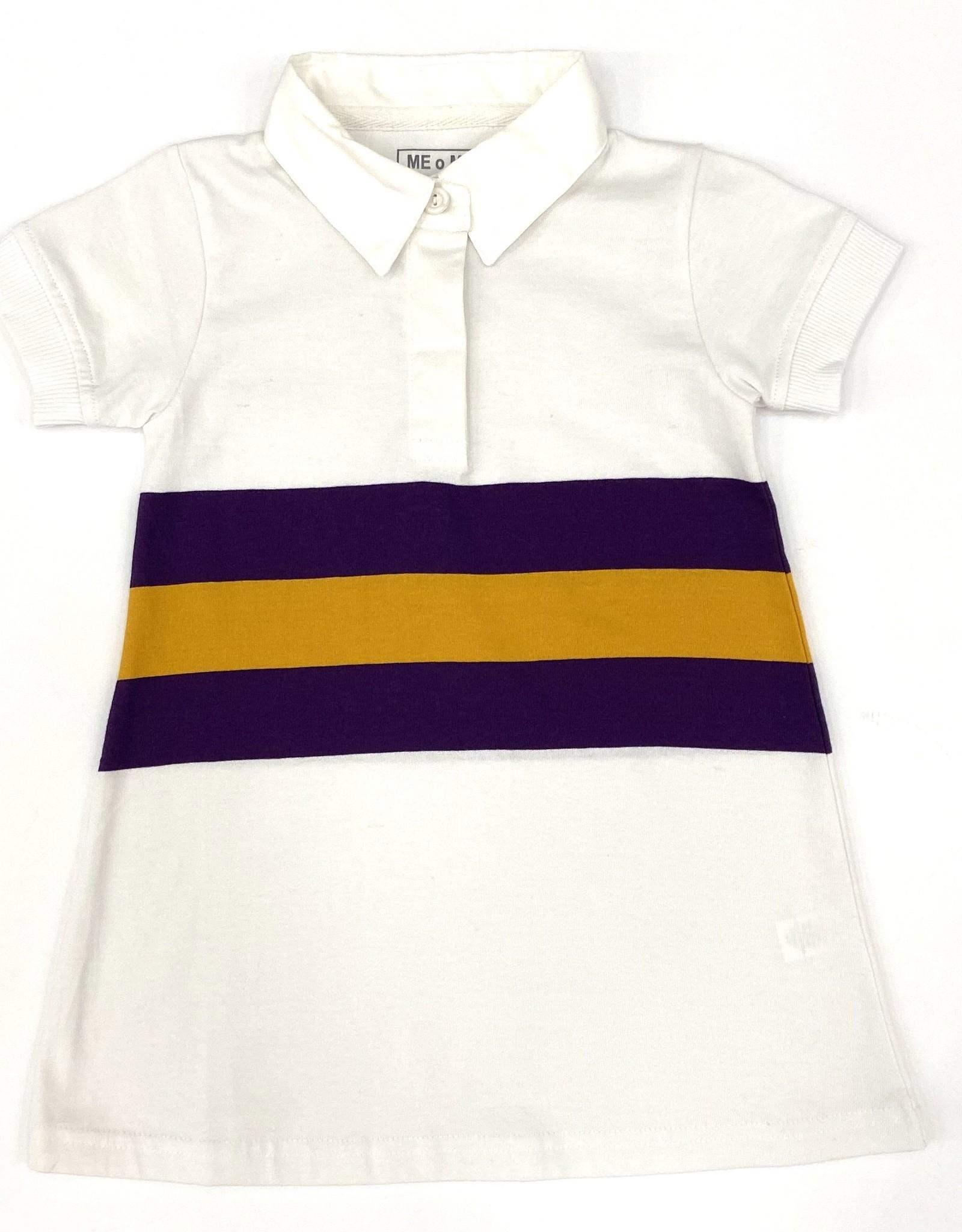 Lulu Bebe LLC LSU Short Sleeve Rugby Dress