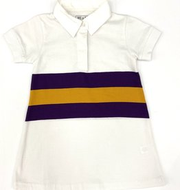Lulu Bebe LLC LSU Short Sleeve Rugby Dress