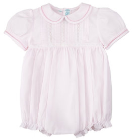 Feltman Brothers Pink Pintuck Collared Bubble