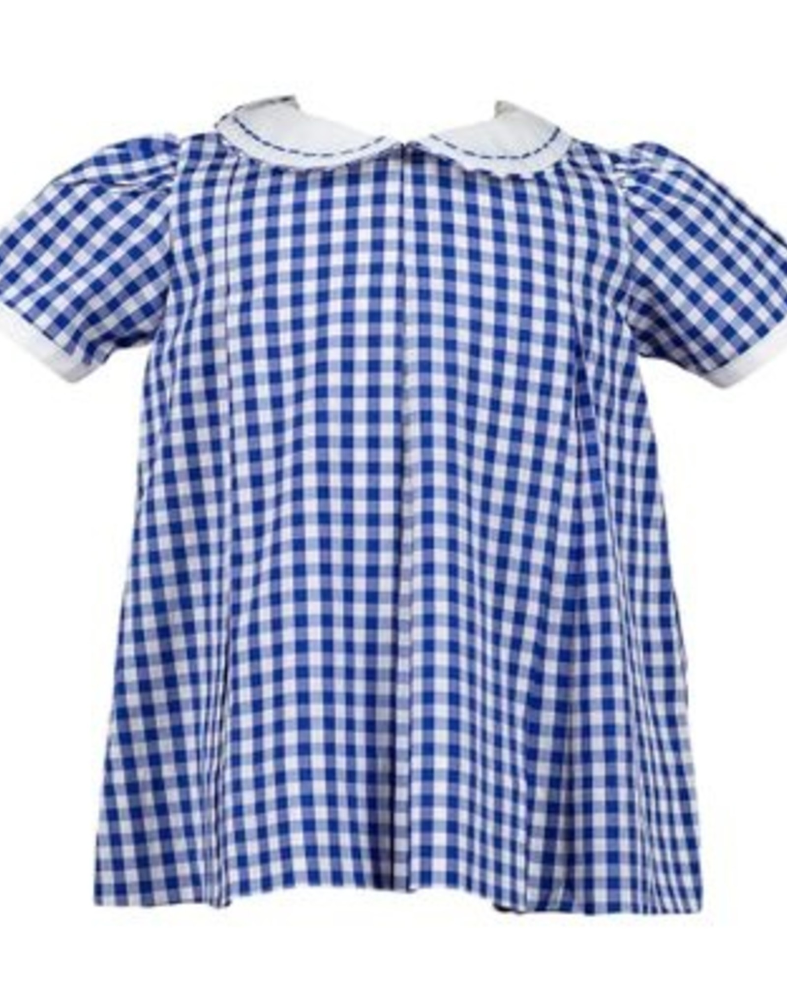 The Proper Peony Blue Gingham Pleat Dress