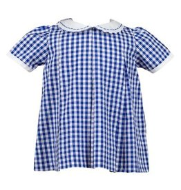 The Proper Peony Blue Gingham Pleat Dress