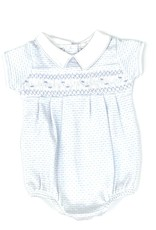 Magnolia Baby Maddy and Michael Classic Smocked Collar Bubble