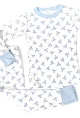 Magnolia Baby Baby's Teddy Essentails Long Pajamas Light Blue