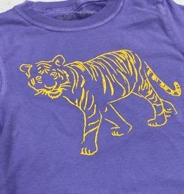 Mustard & ketchup SS Purple Tshirt with Gold Standing Tiger