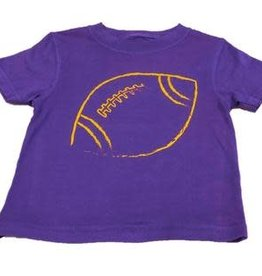 Mustard & ketchup SS Purple Tshirt with Gold Football