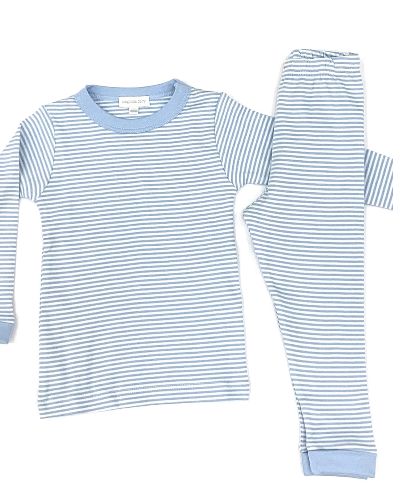 Magnolia Baby Striped Essentials Long Pajamas Light Blue