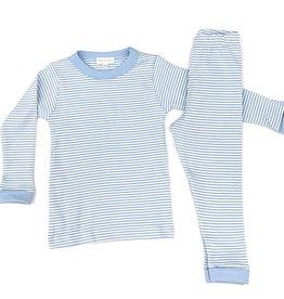 Magnolia Baby Striped Essentials Long Pajamas Light Blue