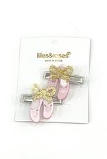 Lillies&Roses Ballet Slipper Alligator Clip