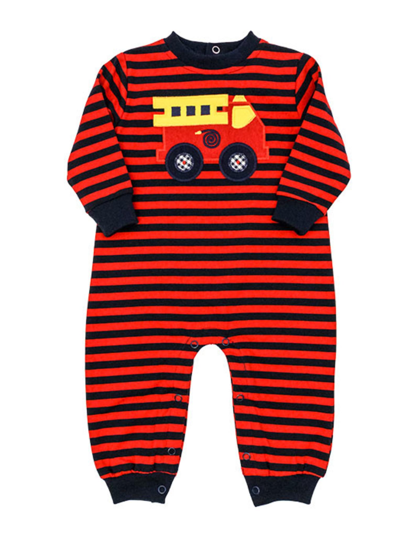 The Bailey Boys Knit Firetruck Romper