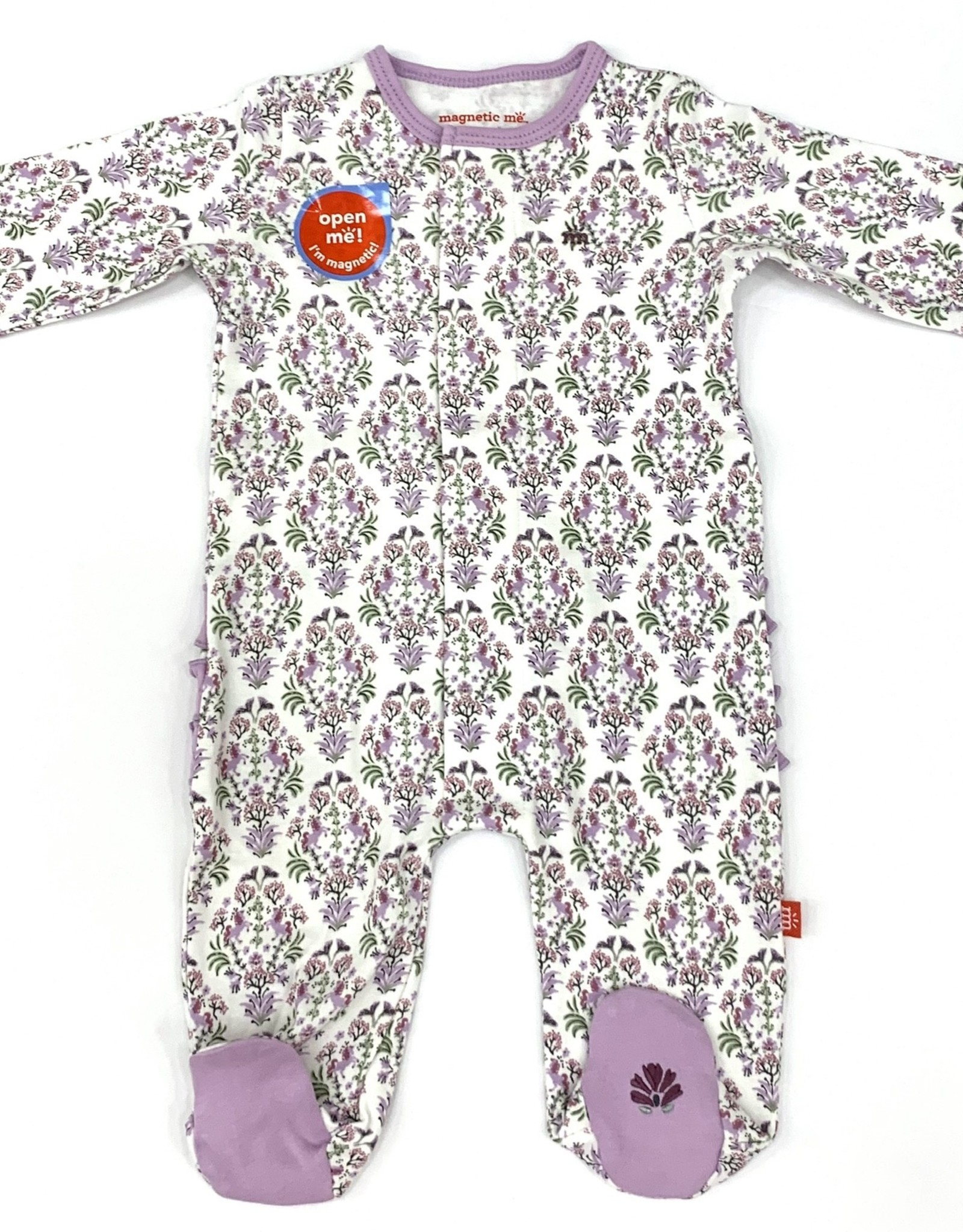 Magnetic Me Unicorn Dreams Purple Organic Footie