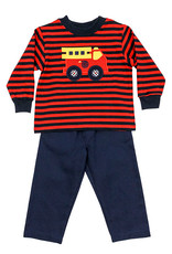 The Bailey Boys Firetruck Boys Pant Set