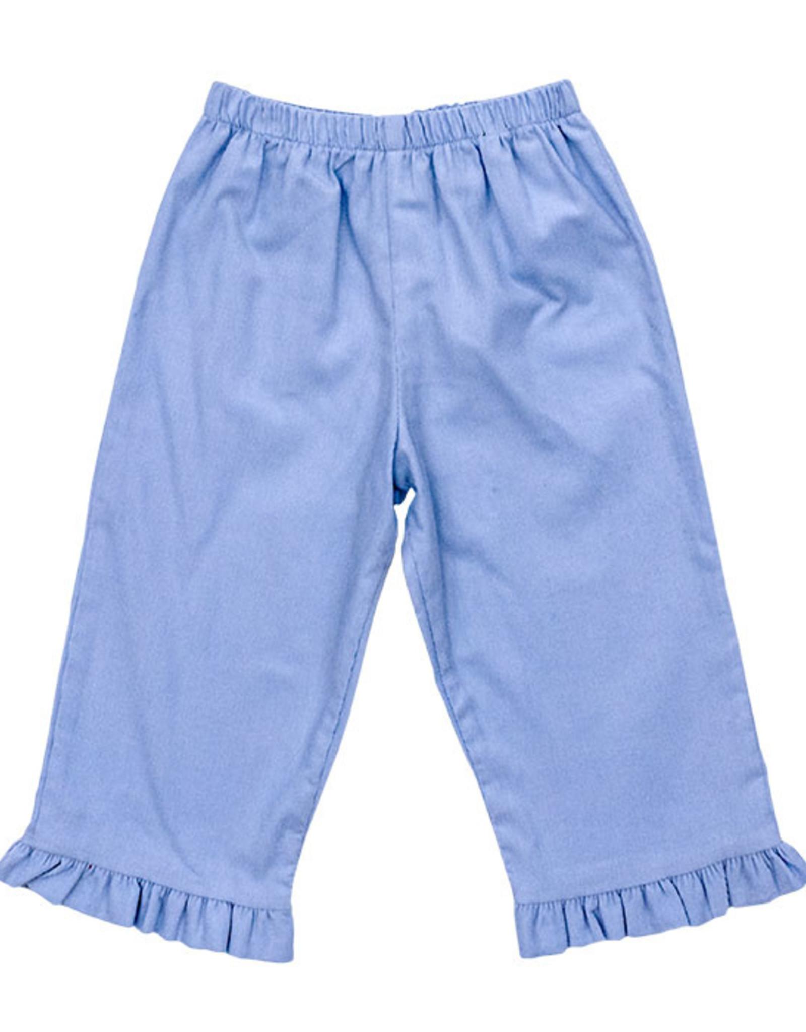 The Bailey Boys Light Blue Elastic Cord Pants With Ruffle