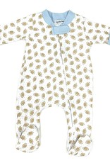 Magnolia Baby Football Printed Zipped Footie