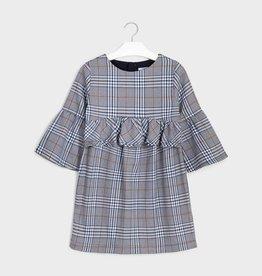 Mayoral Grey Plaid Dress