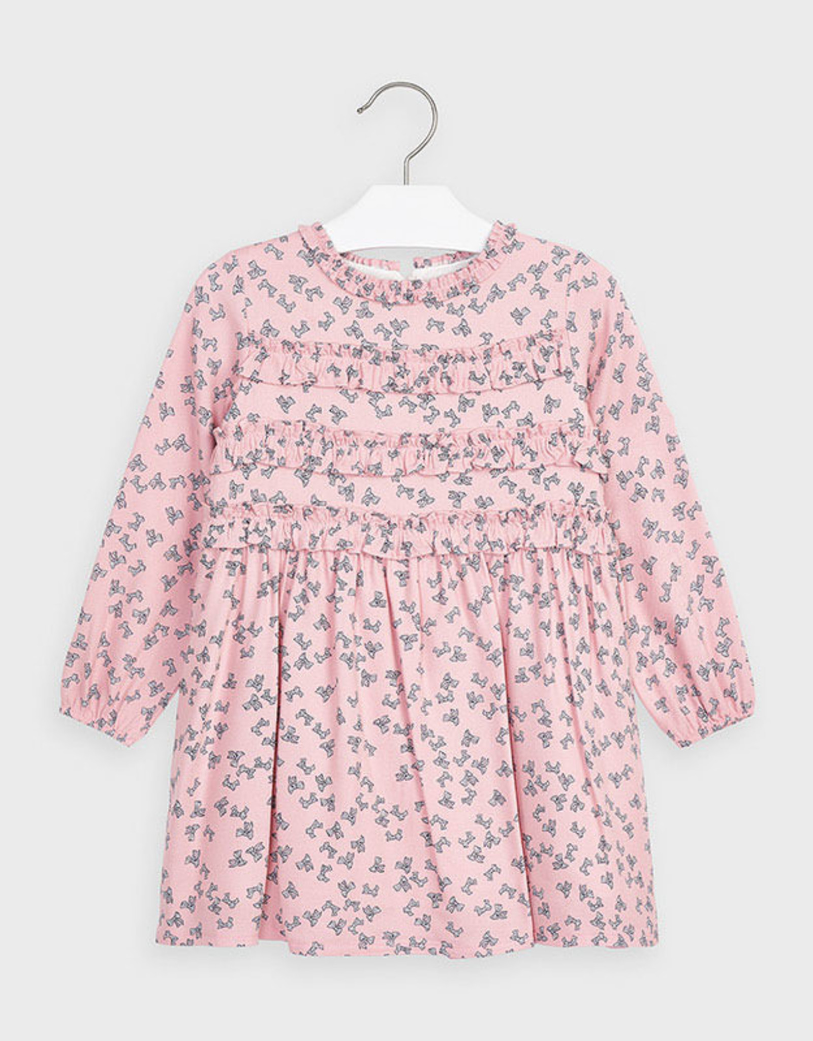 Mayoral Colorete Pink Bow Dress