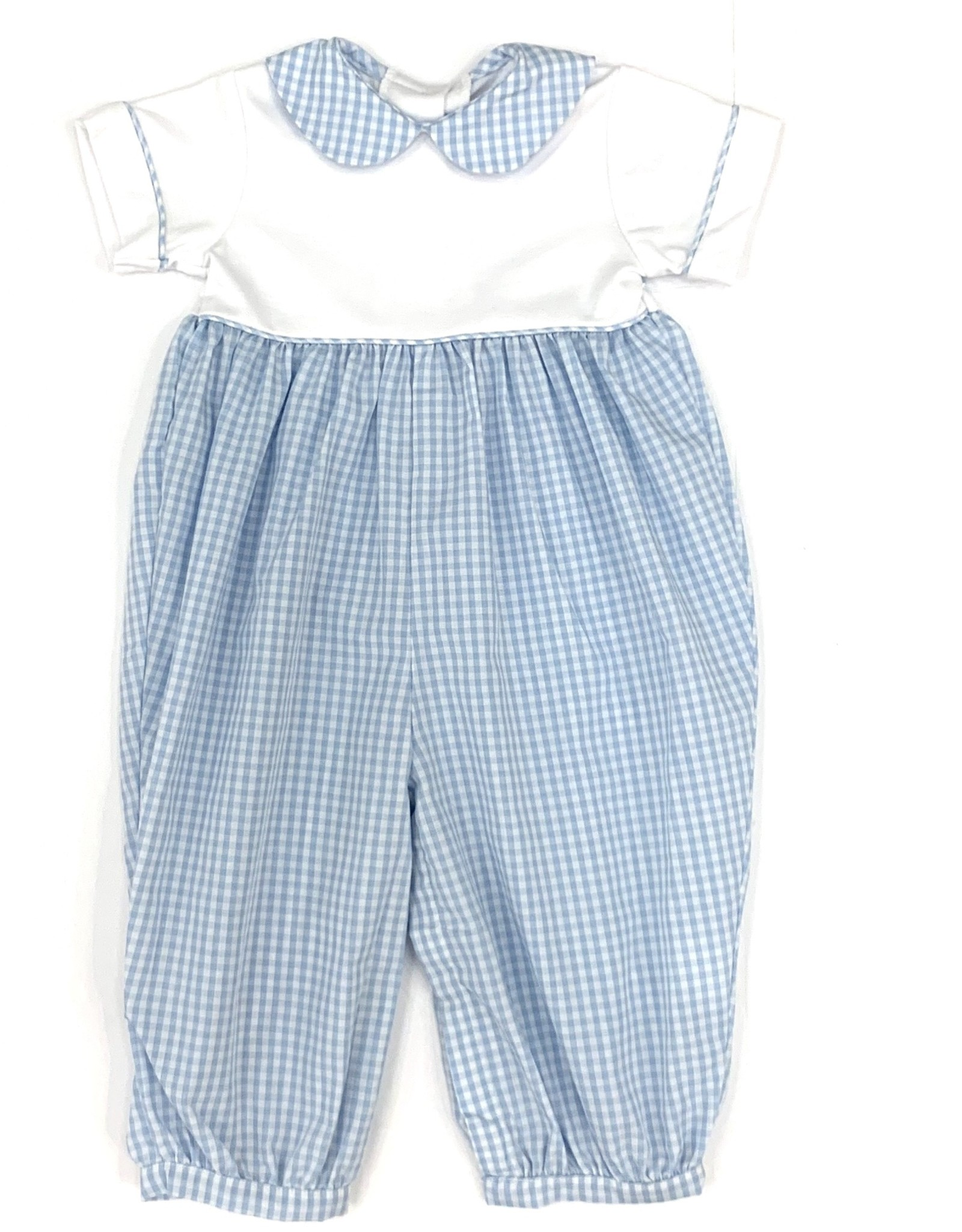 Little English Light Blue Peter Pan Romper