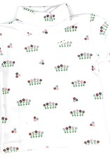 Little English Garden Party Printed Turleneck