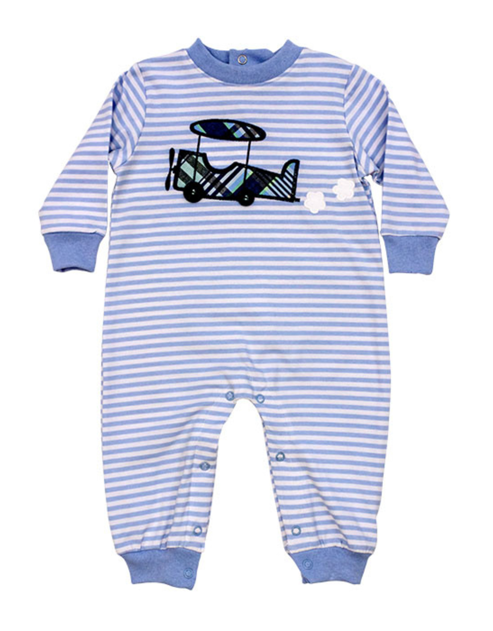 The Bailey Boys Airplane Knit Romper