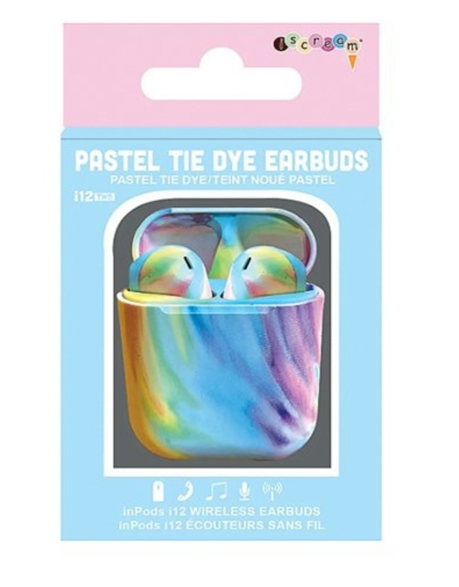 Iscream Pastel Tye Die Earbuds