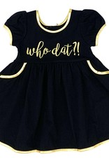 Velvet Fawn Who Dat Embroidery Dress