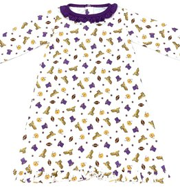 Lulu Bebe LLC LSU Gown With Ruffle
