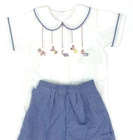 Remember Nguyen Blue ABC Short Set