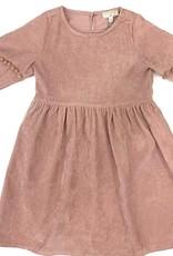 Hayden Los Angeles Pink Cord Pom Pom Sleeve Dress