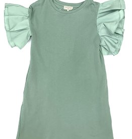 Hayden Los Angeles Ruffle Sleeve Seafoam Dress