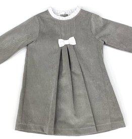 Babidu Stone Cord Dress With White Bow