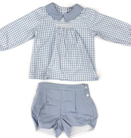 Babidu Sky Blue Check Diaper Cover Set