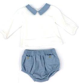 Babidu Sky Blue And White Diaper Cover
