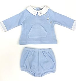 Babidu Sky Blue Two Piece Short Set