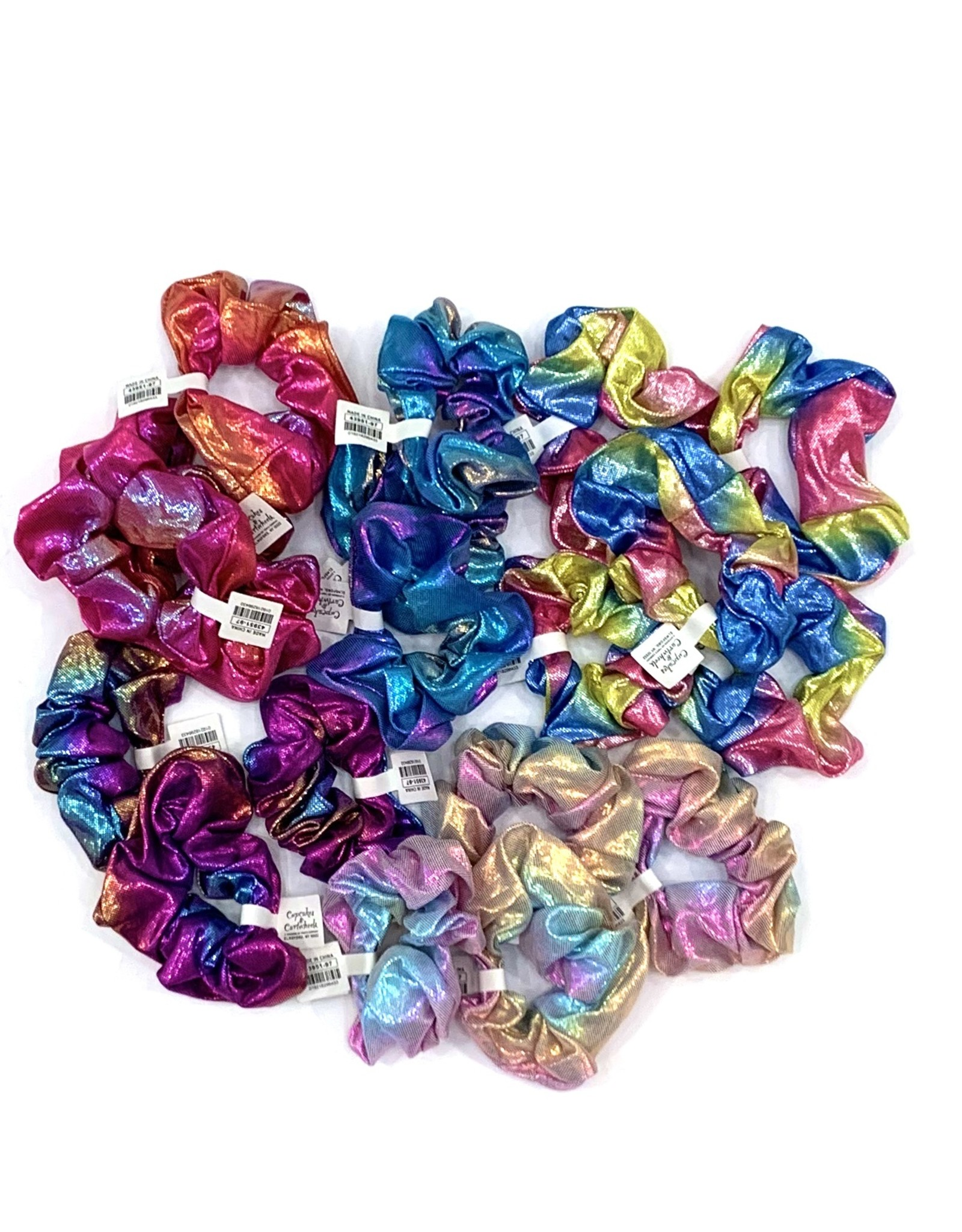 Twos Company Metallic Scrunchies