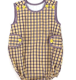 Lulu Bebe LLC LSU Boys Plaid Bubble