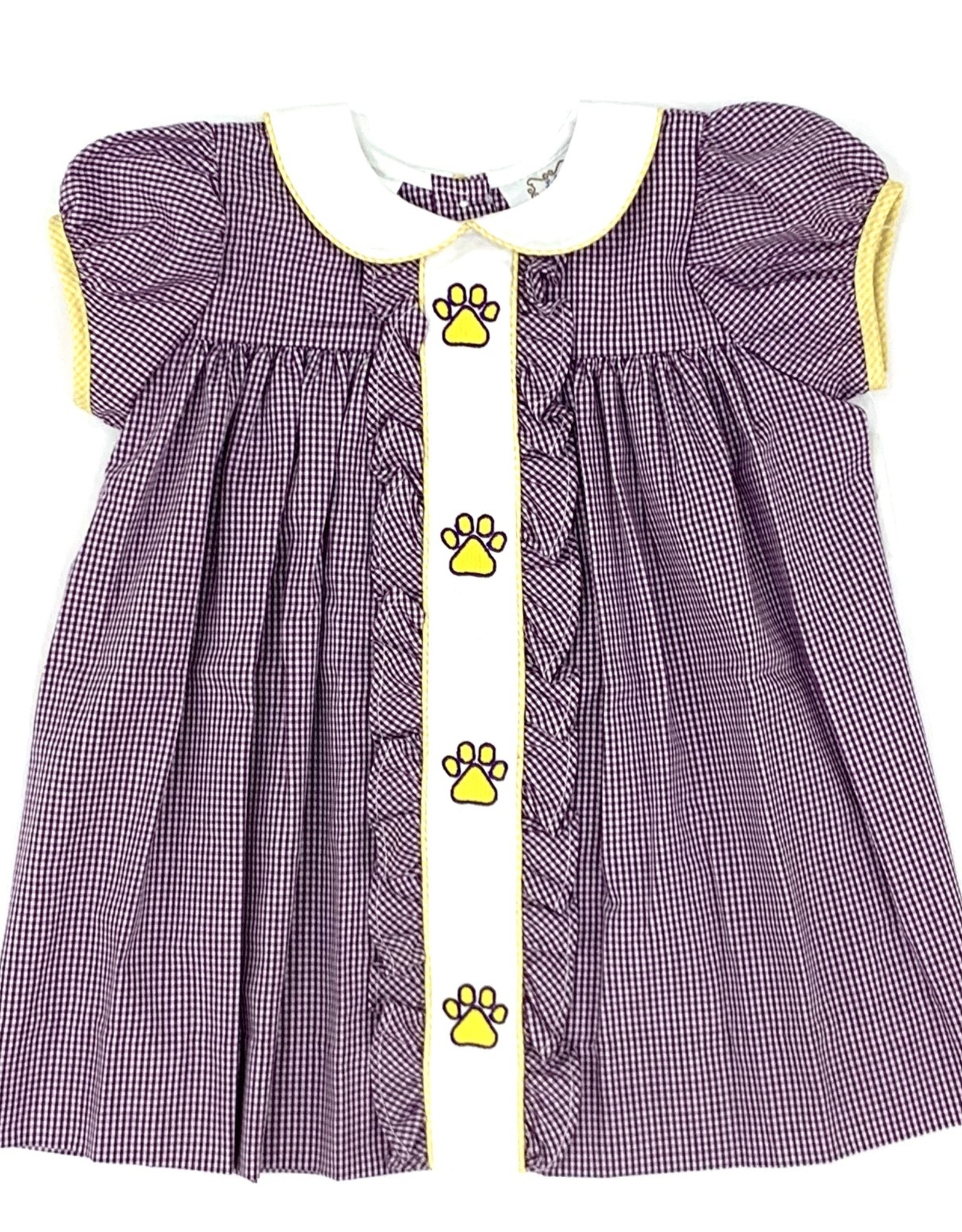 Lulu Bebe LLC LSU Tiger Paw Dress