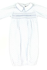 Magnolia Baby Blue Polka Dot Gown with Collar