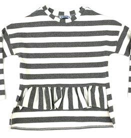 Mayoral Striped Ruffle Blouse