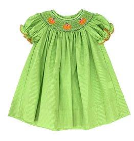 Petit Bebe Bishop Pumpkin Dress Lime Green