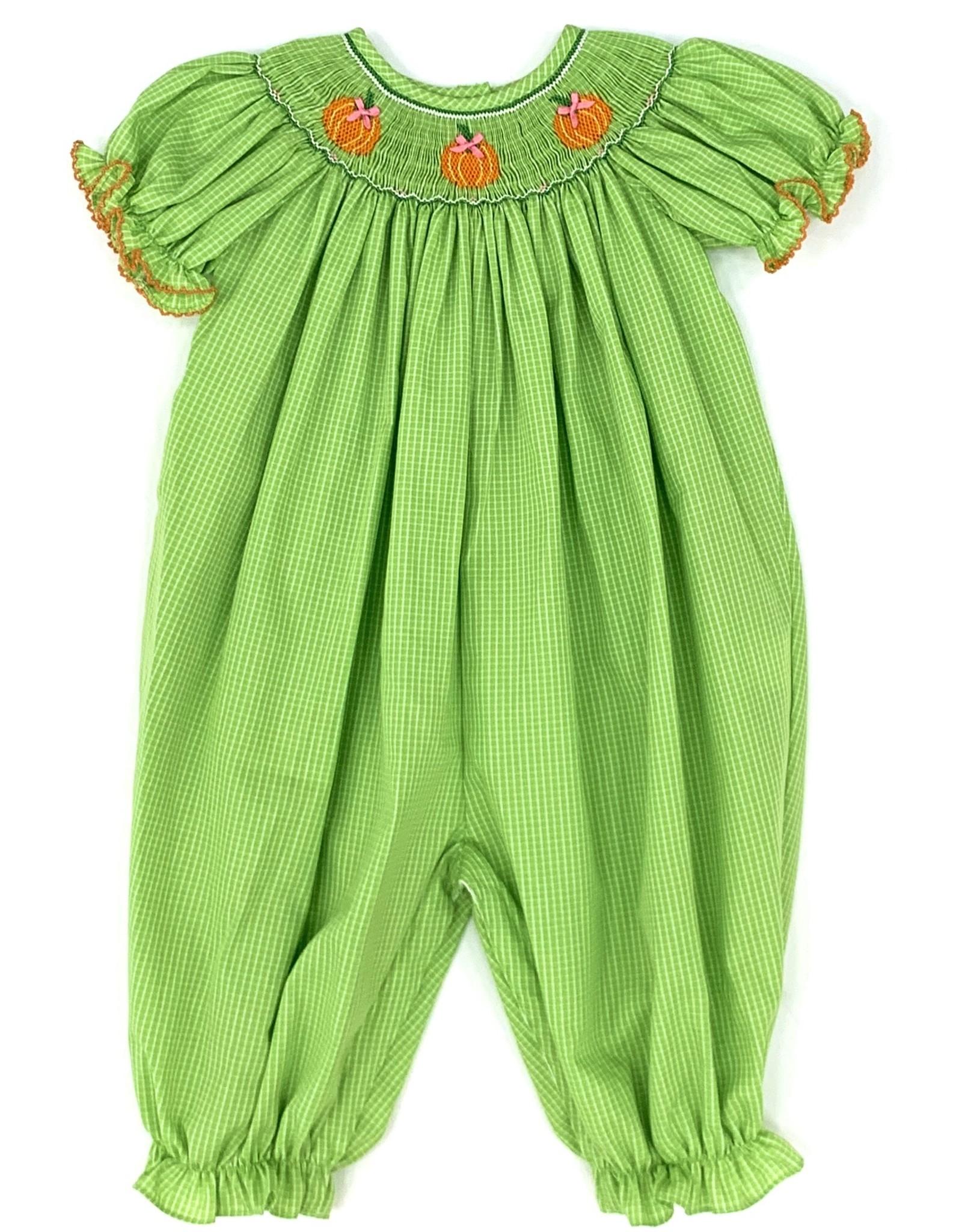 Petit Bebe Girl's Pumpkin Long Bubble Lime Green