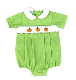 Petit Bebe Boy's Windowpane Lime Green Bubble