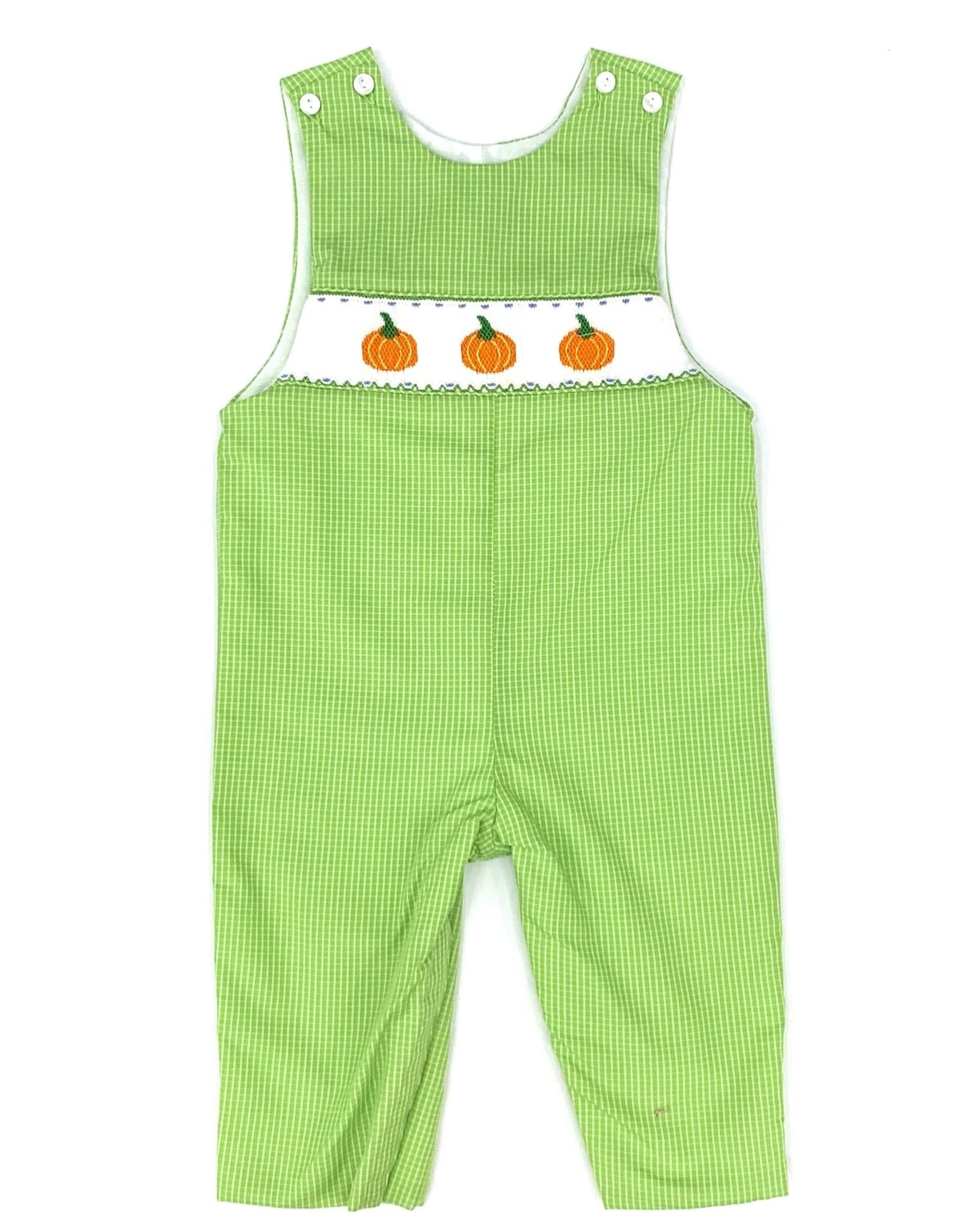 Petit Bebe Lime Green Boy's Pumpkin Jon Jon