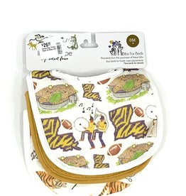 Velvet Fawn Game Day Three Pack Of Bibs