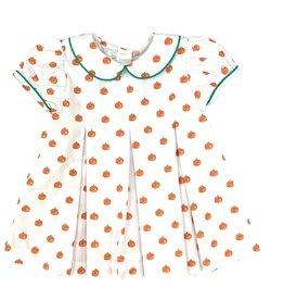 James and Lottie Penny Pleat Dress Pumpkins